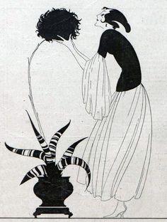 Gustav Lohse perfume ad (detail), by Jupp Wiertz, for Jugend magazine, 1922 Art Deco, Art Nouveau, Perfume Ad, Magic Realism, Harlem Renaissance, Satyr, Black And White Illustration, Cubism, Belle Epoque