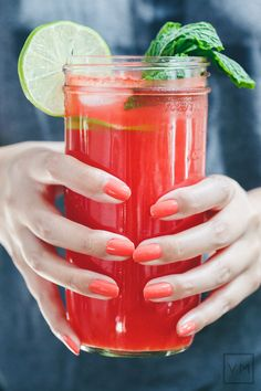 #Watermelon Agua Fresca | Vegan Miam #vegan #drink #beverage #recipe