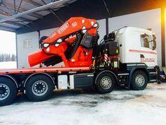 Scania. zwaar autokraan Fassi 2150.