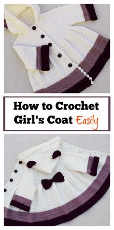 How to Crochet Girls Coat Easily #sweater #freecrochetpatterns