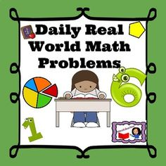 A great Math center or daily morning work activity. It has 30 Daily math word problems that can be used in centers, with partners, whole group. Writing Resources, School Resources, Classroom Resources, Read Aloud Books, Daily Math, Morning Meetings, Morning Work, Math Words, Math Word Problems