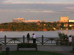 Bell park boardwalk in Greater Sudbury