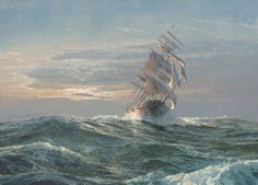 Maarten Platje - Clipper Ship Sea Witch | From a unique collection of landscape paintings at http://www.1stdibs.com/art/paintings/landscape-paintings/