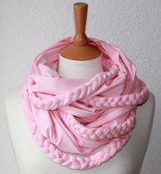 Flecht Loop/ Schal/ Jersey/ rosa  Candy von SongbirdFashion auf Etsy, €32.90