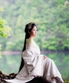 Ancient Chinese Palace Beauty Empress Hanfu Clothing Complete Set