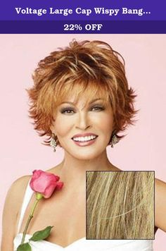 Voltage Large Cap Wispy Bang Short Tousled Raquel Welch Wigs - Color R13F25. Short barely waved all over waves mean this stuning no fuss salon cut can be worn full smooth or somewhere in between. All Raquel Welch wigs offer the same fashion styling previously available only to top fashion models and Hollywood stars. Featuring the latest in unique state of the art wig technology the collection includes our patented Memory Cap for a custom like fit and comfort our exclusive Kanekalon…