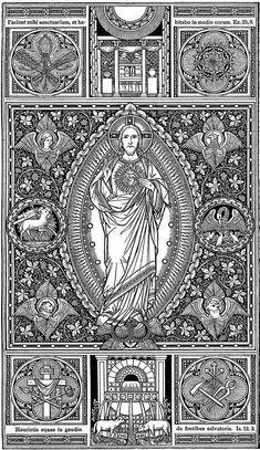 Jesus Christ Images, Jesus Art, Religious Icons, Religious Art, Gothic Revival Architecture, Christian Tattoos, Antique Illustration, Albrecht Durer, Catholic Art