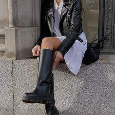 Emma Rose, Cool Girl, Cool Outfits, Amazing Outfits, Riding Boots, Fancy, My Style, Cute, Leather