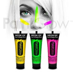Paintglow uv neon glow face & body #paint (3 #pack) fancy dress face #paint #makeu,  View more on the LINK: http://www.zeppy.io/product/gb/2/282205875906/