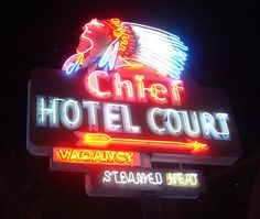 Old Chief Hotel Court Sign in Las Vegas!