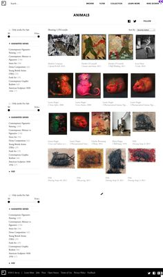 Art.sy searchable resource for art,artist,subject, etc.