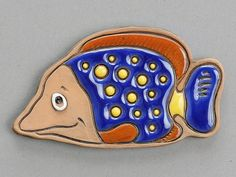 """Let all that you do be done with love""            Fish magnet."