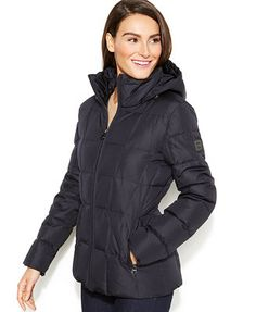Calvin Klein Hooded Quilted Down Puffer Coat