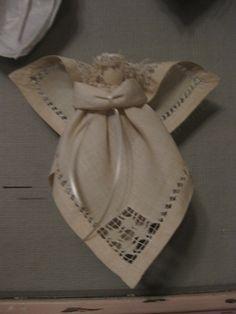 Handmade Vintage Linen Angel by sentimentality on Etsy, $18.00