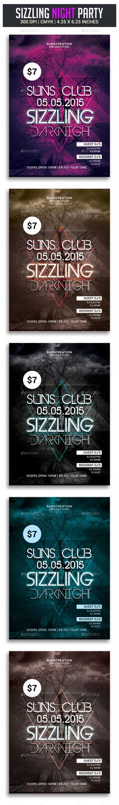 Sizzling Darknight Party Flyer