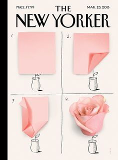 Christoph Niemann's rose cover for this week's New YorkerFiled under: Christoph Niemann