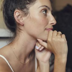 Understated and elegant, our Diamond Ember Necklace is one of those styles we can't stop wearing. Dainty Earrings, Birthstones, Studs, Amethyst, Pairs, Elegant, Diamond, How To Wear, Spring