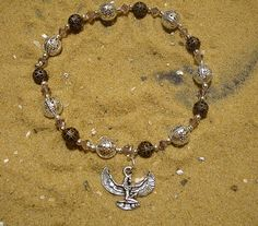Egyptian Isis bracelet in amethyst and by EgyptianInspirations, $22.99