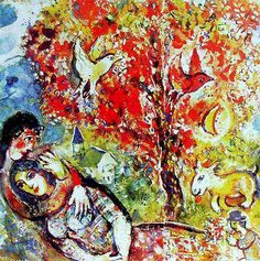 Marc Chagall's Most Famous Painting | Marc Chagall Paintings N053
