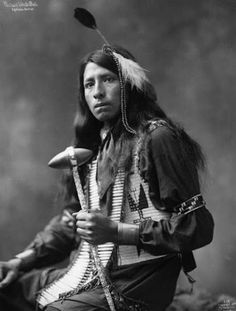 Richard White Bull (c1879 - ? ), Oglala Lakota -  Also known as Tatanka Ska. He was the son of (?) White Bull... - Heyn Photo - 1899.
