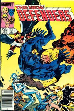 """The Defenders #129 (Mar '84) cover by Jackson """"Butch"""" Guice. #NewMutants"""