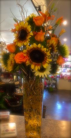 Can't get enough of, fall sunflowers.