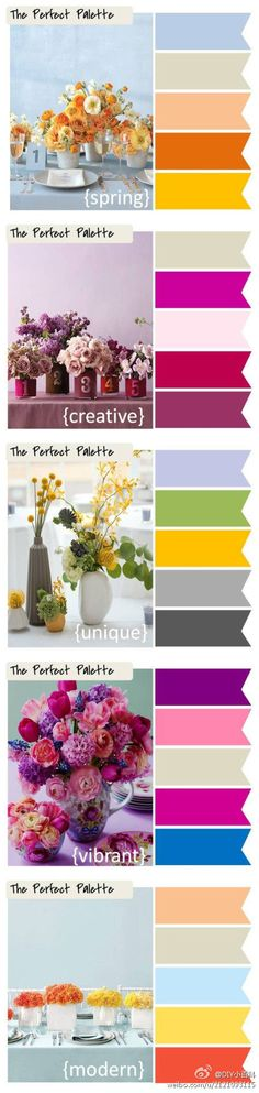 Maybe integrate these spring palettes in your outfits! :)