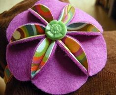 Felt and fabric flower