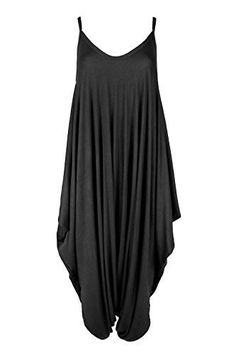 fa4a9d2cf727 Amazon.com  Oops Outlet Women s Thin Strap Lagenlook Romper Baggy Harem Jumpsuit  Playsuit  Clothing