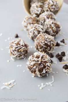 awesome Chocolate Peanut Butter Snack Bites   Baked by an Introvert