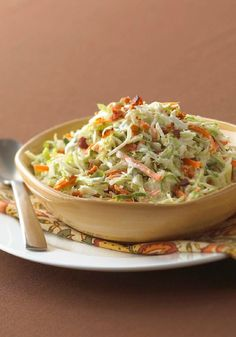 "Ranch-Style Coleslaw with Bacon – We have two words for you: ""Combine ingredients."" That's the extent of the effort it takes to make Ranch-Style Coleslaw with Bacon. So quick, easy, and delicious!"