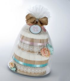 Bride to Be Towel Cake. Country Rustic Floral Design. Bridal Shower Gift or Centerpiece. on Etsy, $190.00