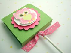 Pink and Green Owl Lollipop Covers Set of Ten por SimpleTastes