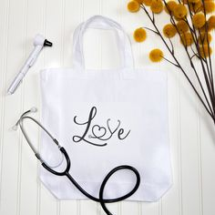 Use Avery Design and Print Online to customize this fun Nurse's tote bag! There are hundreds of free templates. Check out Avery.com/ideas for more inspiration. Printable Designs, Free Printables, Personalized Gifts, Unique Gifts, Reusable Tote Bags, Templates, Check, Fabric, Cards