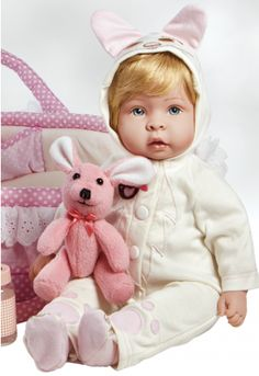 Molly & Fluffy is one of our many real life and realistic baby dolls with weighted body. Pretty little Miss 'Molly' and her dear 'Fluffy' friend are ready for a super fun time! Molly measures 18 inches from head to toe.