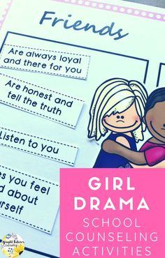 Relational Aggression lesson for elementary and middle school students. Help your students navigate girl bullying and relational aggression with this fun activity pack! Middle School Counseling, Elementary School Counselor, Elementary Schools, Bullying Activities, Counseling Activities, Group Counseling, Friendship Activities, Friendship Lessons, Bullying Prevention