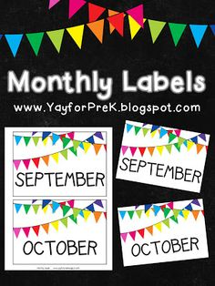 Printables and Websites on Pinterest | Printables, Toy Bin Labels and ...