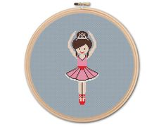 Little Ballerina Counted Cross stitch Pattern PDF von KHANNAandILAN