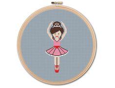 Little Ballerina Counted Cross stitch Pattern PDF von KHANNAandILAN