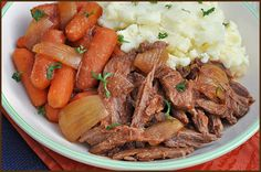 A simple pot roast with serious flavor. Sweet, tangy, and rich. The meat just shreds effortlessly after cooking all day.