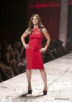 Jillian Michaels wearing Cushnie et Ochs Red Dress