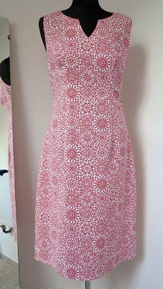 šaty pouzdrové potisk krajka červenobílé na míru - handmade - just make a wish :) - quilting treasures - amazing lace