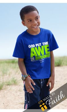1f2f8761d7 God Put The Awe In Awesome Tee