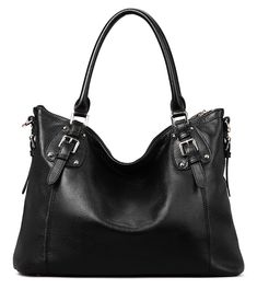 Coolcy Vintage Real Leather Handbags for Women Tote Shoulder Bag