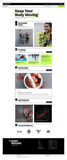 A template as energetic and dynamic as you are. Grow your clients and subscribers with the Wix Blog: Share exercise plans, nutrition tips and healthy living ideas to inspire beginner trainees and other fitness lovers. Are you ready to get moving?