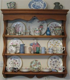 My Kitchen Dresser Top Pottery And China Collection Stunning Wild Flower Plates From Coalport