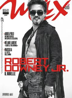 Robert Downey Jr. on the cover of the March 2013 issue of MAX (Italy).