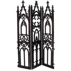3 Panel Gothic Screen | From a unique collection of antique and modern screens at http://www.1stdibs.com/furniture/more-furniture-collectibles/screens/