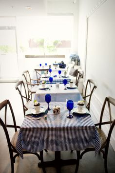 Different blue tablecloths--do I dare?