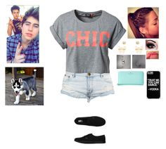 """Ootd"" by rosslynch-1145 ❤ liked on Polyvore featuring ONLY, Vans, Charlotte Russe, River Island, NYX and Kate Spade"